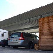 Carport Doppelcarport mit Abstellraum Müllraum