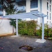 Carport freitragend Metall Glas Dach